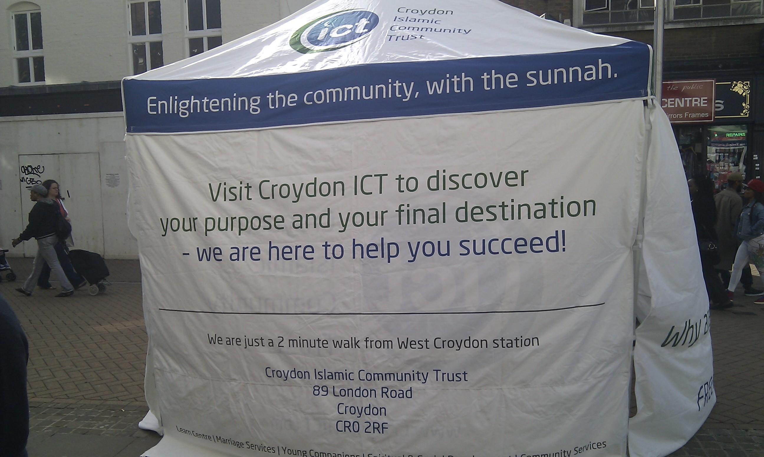 Croydon ICT Dawah Programme - Gazebo Pics 2