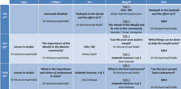 Croydon ICT Winter Conference Schedule: Believers in Allah and The Last Day