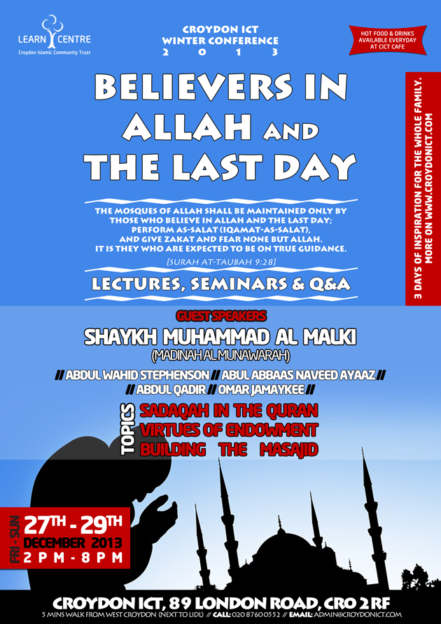 Croydon ICT Winter Conference: Believers in Allah and The Last Day