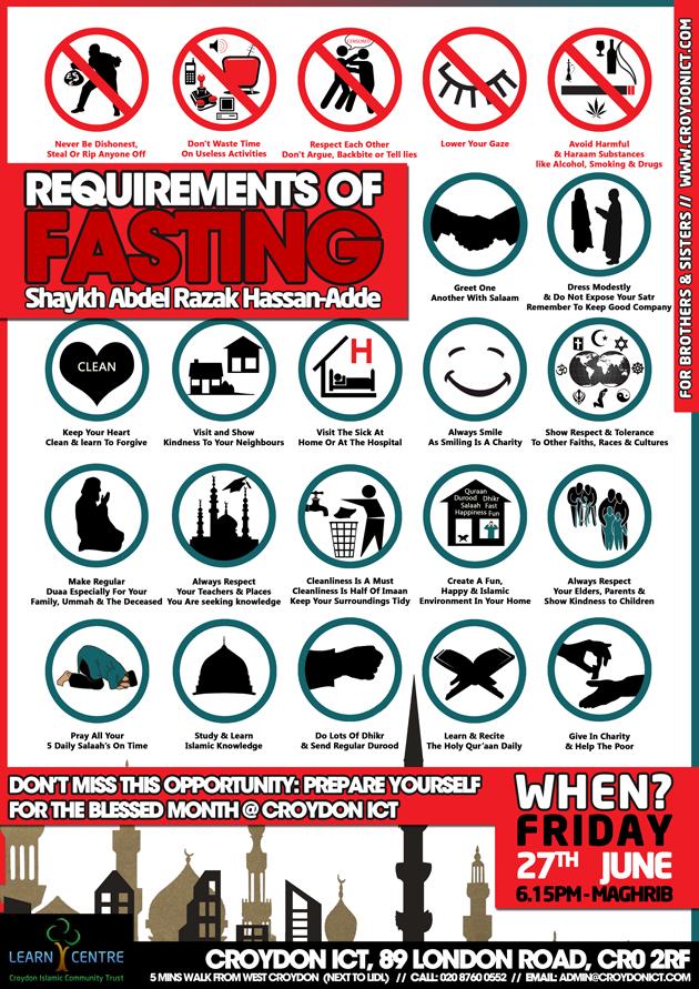 Shaykh Abdel Razak Hassan-Adde - Requirements of Fasting - Croydon ICT - 27 June 2014