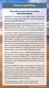 Those who are seen not fasting during Ramadhaan
