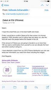 Zakat Al-Fitr 2015 confirmation